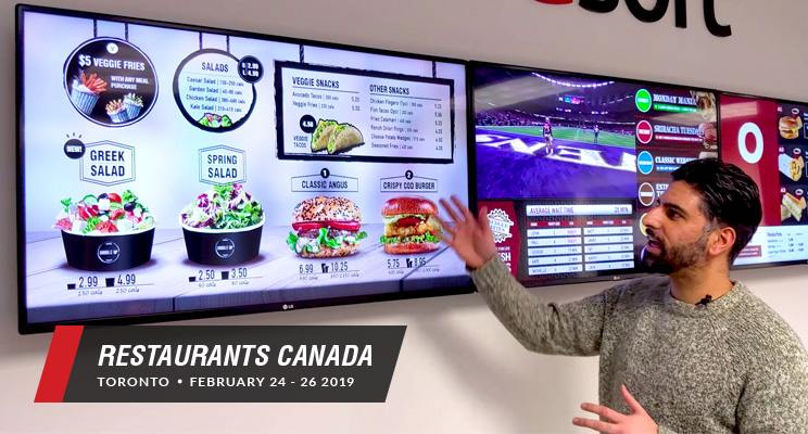 Digital signage expert provides a sneak peak at Kuusofts booth for Restaurants Canada Show 2019