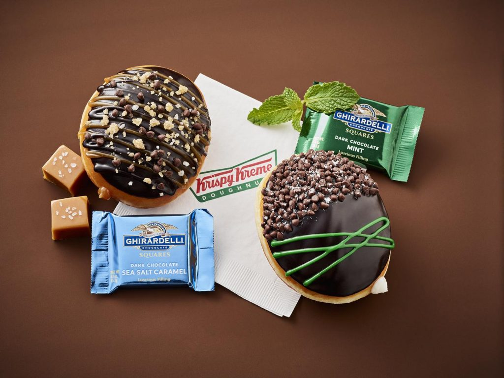 The co-marketed Krispy Kreme and Ghiradelli donut