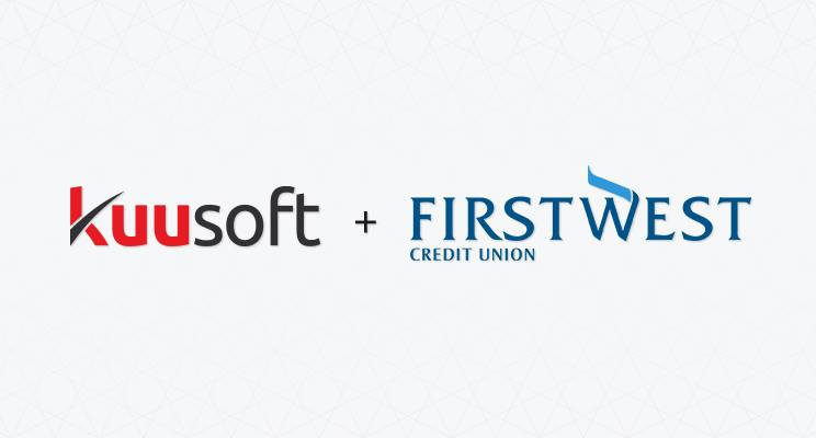 Kuusoft and First West Credit Union's logos together in partnership