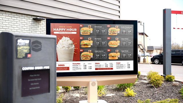 drive-thru menu board design