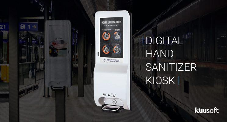 Hand Sanitizer Dispenser, digital kiosk for hand soap
