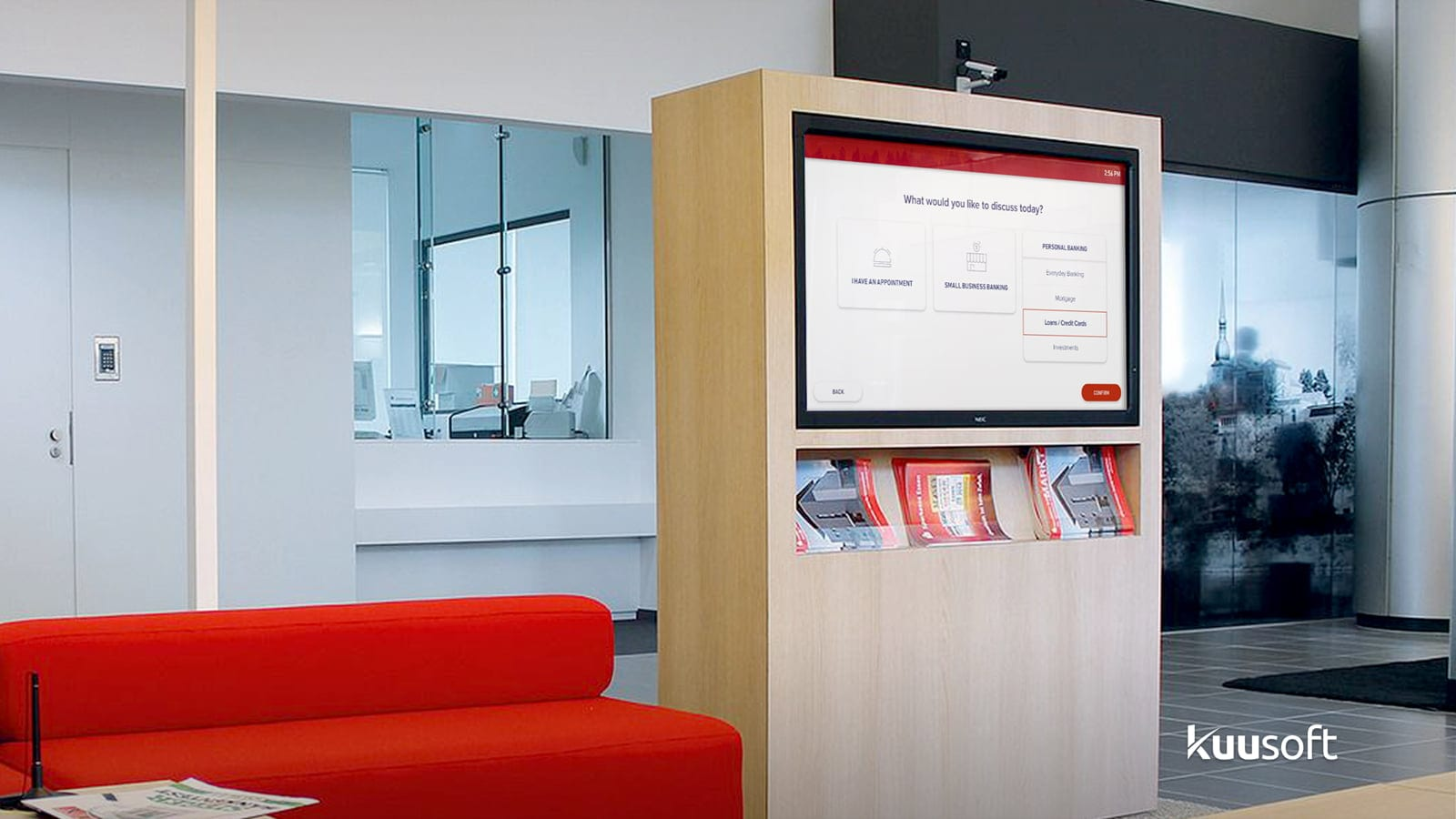 in-branch check-in digital signage