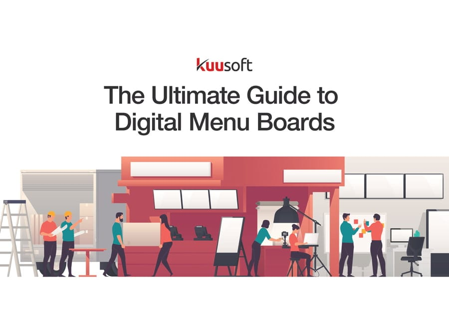 the ultimate guide to digital menu boards from Kuusoft