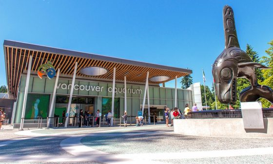 Vancouver Aquarium Front Entrance Digital Signage collaboration