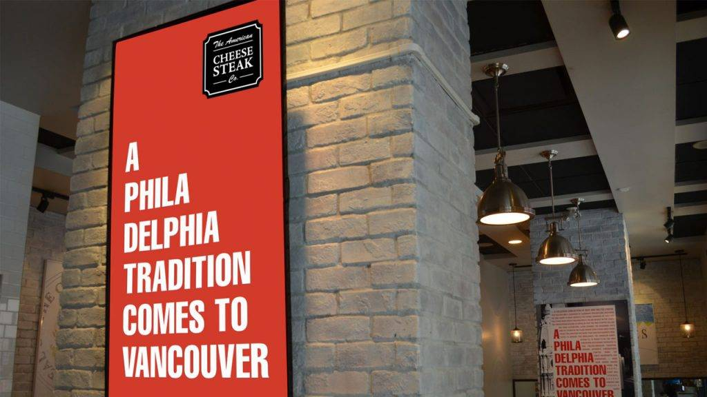 a branding digital signage for restaurants that blend into the environment