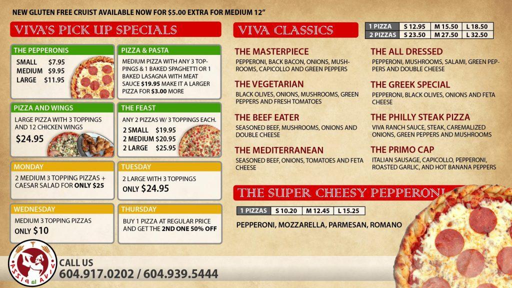 Digital Menu Board Macon Pizza
