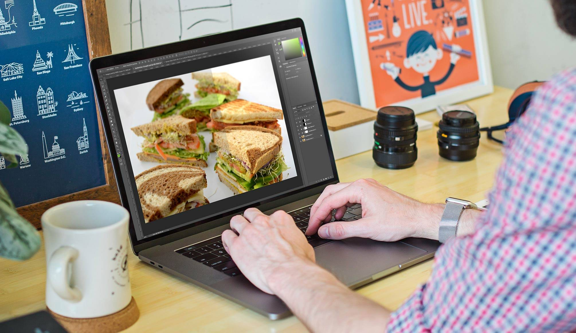 Graphic Design Services - NexSigns for the delly digital menu boards - production