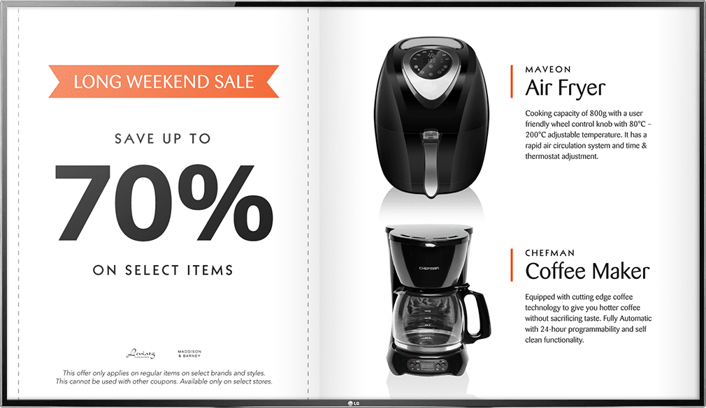 promotion for coffee machine