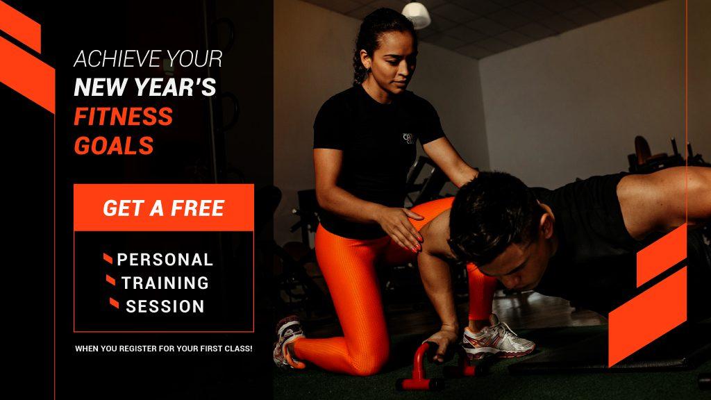 Personal training gym digital signage