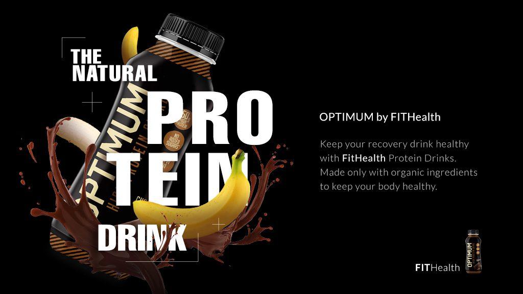 healthy drink advertisement gym digital signage