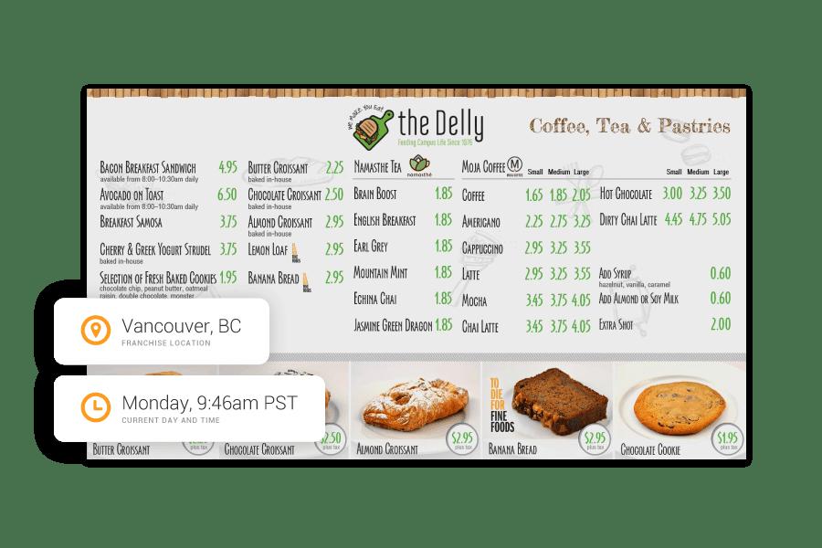 Dayparting menu