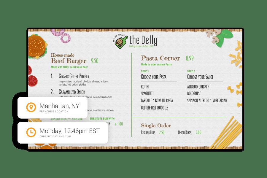Dayparting digital menu