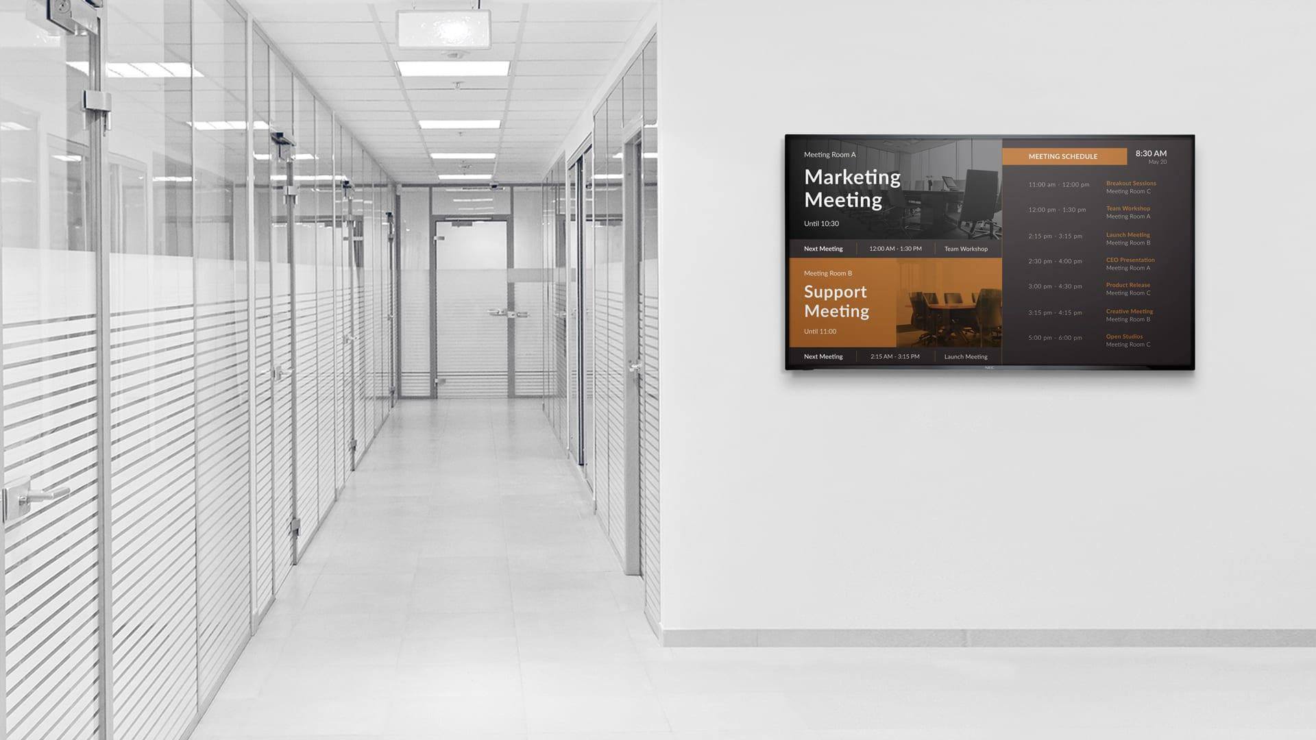 meeting schedule office hallway communication